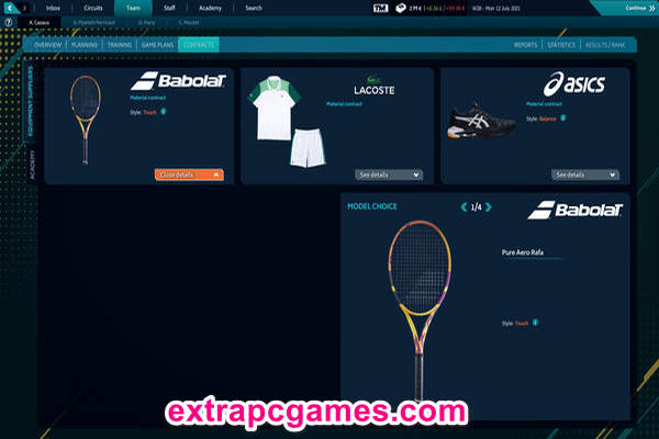 Tennis Manager 2021 PC Game Download